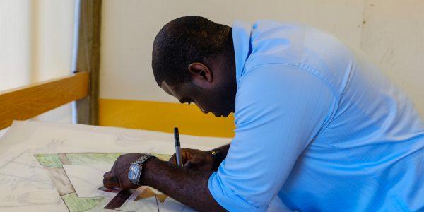 Student Hand Drafting; Sept 25, 2015